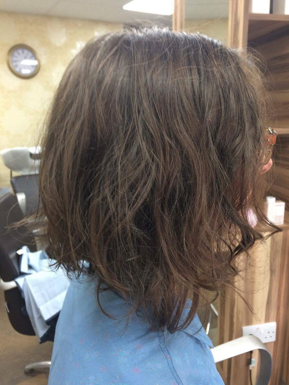 After - Client wanted a textured casual concave bob