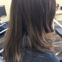 Before - Client wanted a textured casual concave bob