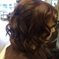 Curling and up-do