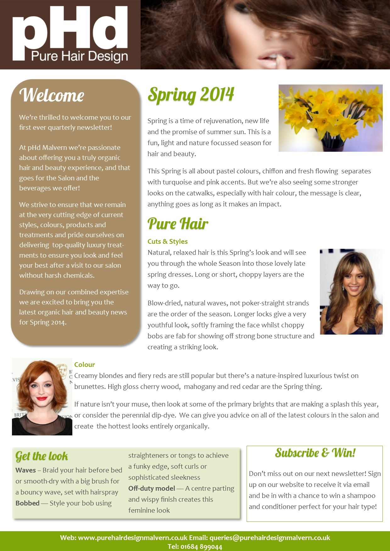 pHd Spring 2014 Newsletter Image Front