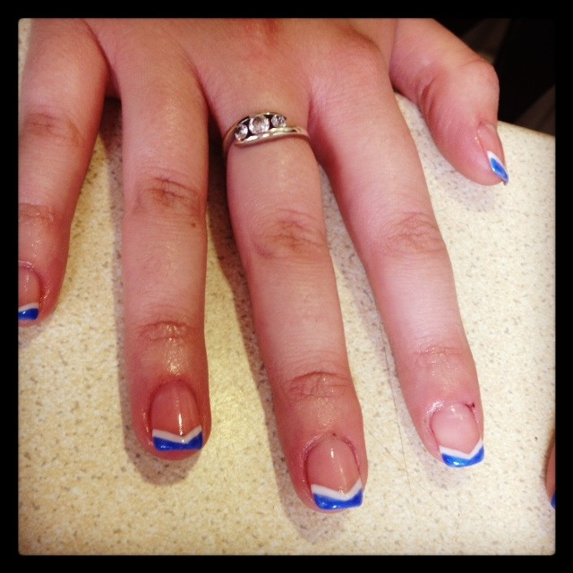 Spice up your French manicure