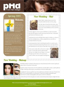 pHd Spring 2015 Newsletter Front