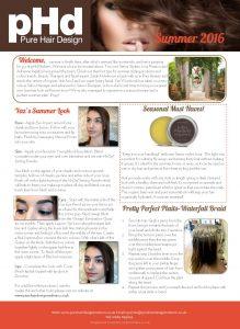 pHd Summer 2016 Newsletter - Front